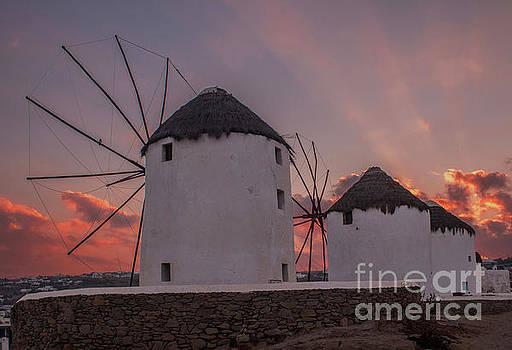Mykonos windmills by Jim Wright
