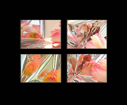 Mylar Reflections of Tulips by Patricia Whitaker