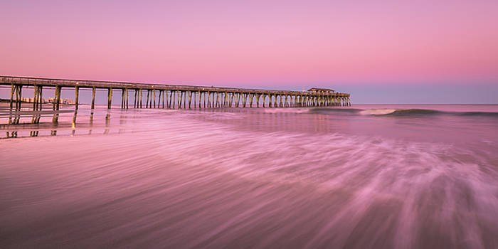 Ranjay Mitra - Myrtle Beach Fishing Pier at Sunset Panorama