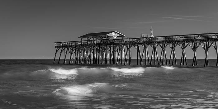 Ranjay Mitra - Myrtle Beach Pier Panorama in Black and White