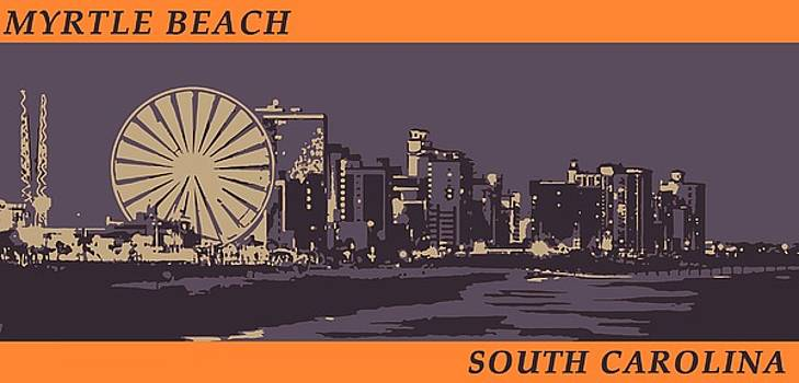 Myrtle Beach, SC Skyline by Jennifer Hotai