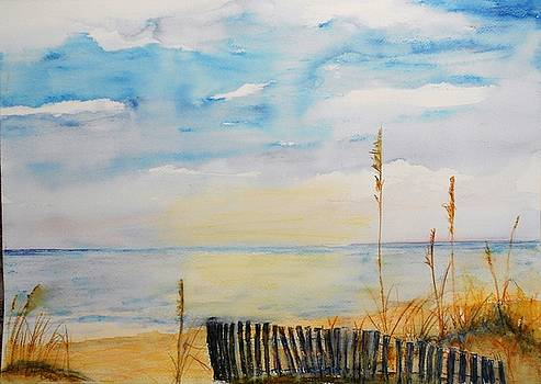 Myrtle Beach Sea Fence And Oats By M Jan Wurst