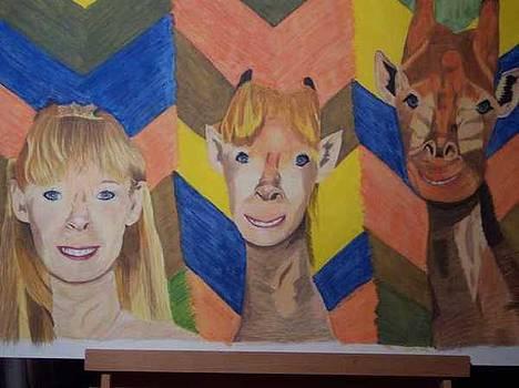 Myself morphing into a giraffe by Sherri Ward