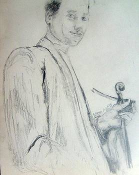 Myself with a violin by Andrew Gillette
