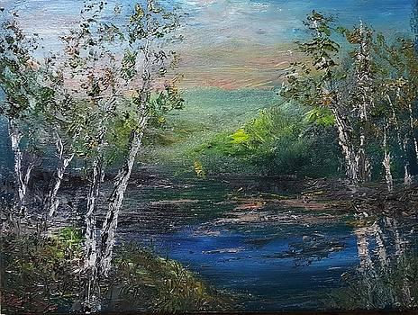 Mysterious Lake by John Reid
