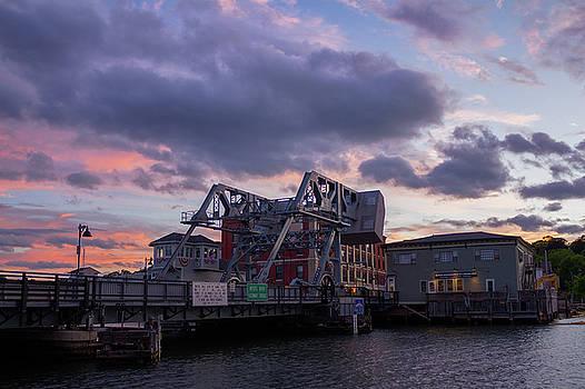 Mystic Bridge Sunset 2016 by Kirkodd Photography Of New England