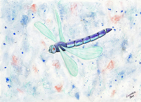 Mystic Night Dragonfly by Dawn Marie Black