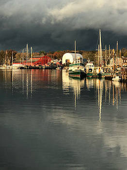 Mystic River Reflections by Linda Ouellette