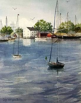 Mystic River Shipyard by Lizbeth McGee