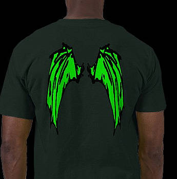 Mystical Creatures Wings BlackLight Green Shirts by RazzleDazzleThem RazzleDazzleThem