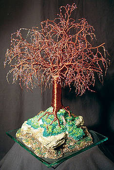 Mystical Island - Wire Tree Sculpture by Sal Villano