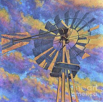 Nadine's Windmill Day Break by John Cruse Knotts