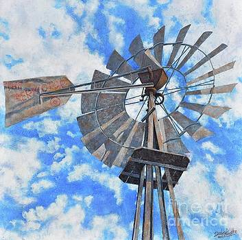 Nadine's Windmill High Noon by John Cruse Knotts