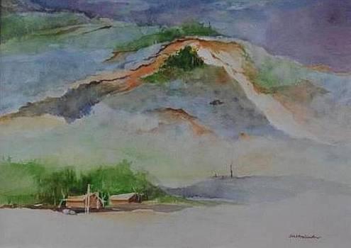 Naga Village and hills of Nagaland by Prakash Sree S N