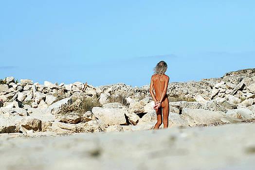Nano Calvo - Naked man on beach