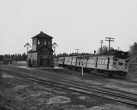 Chicago and North Western Historical Society - Namakegon at Wisconsin Depot - 1949