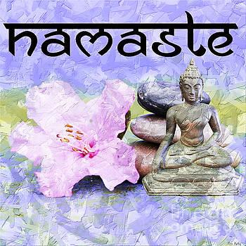 Namaste Buddha. v3 by Lita Kelley