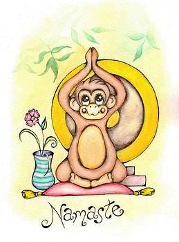 Namaste Monkey by Adrienne Allen