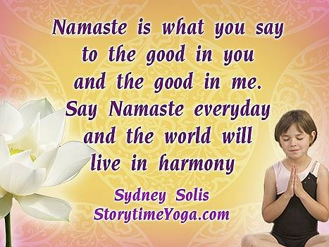 Namaste Song Storytime Yoga for Kids by Sydney Solis