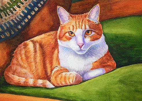 Nancy's Orange Tabby Cat by Rachel Armington