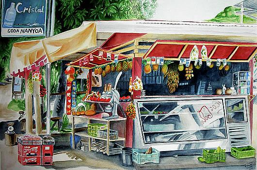 Nanoya Fruit stand, Dominical, Costa Rica by Suzahn King