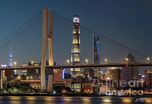 Nanpu Bridge Shanghai by Jeffrey Stone