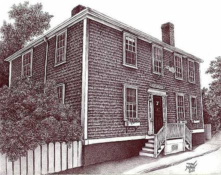 Nantucket House Portrait--Hussey St. by Dan Moran