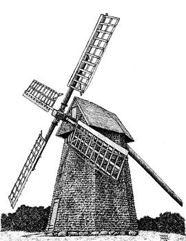 Nantucket Windmill Number One by Dan Moran