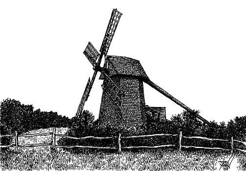 Nantucket Windmill Number Two by Dan Moran