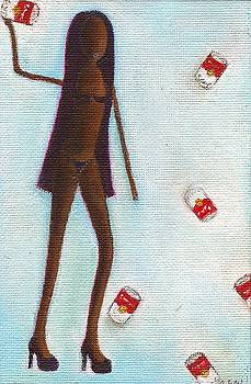 Naomi Throwing Cans of Campbell Soup by Ricky Sencion
