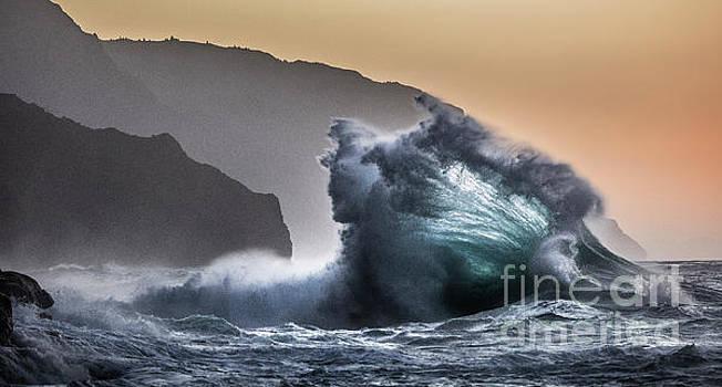 Napali Coast Hawaii Wave Explosion III by Dustin K Ryan