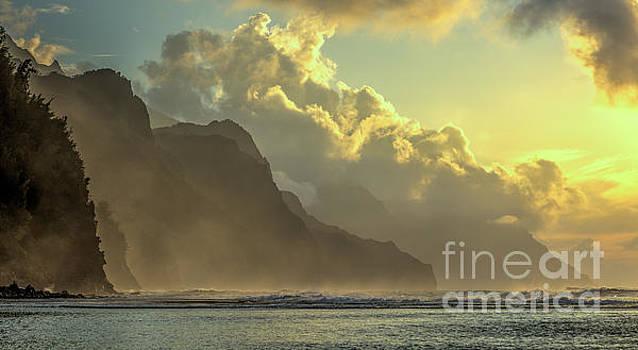 Napali Coast Kauai Hawaii Dramatic Sunset by Dustin K Ryan