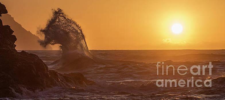 Napali Coast Kauai Hawaii Wave Explosion IV by Dustin K Ryan