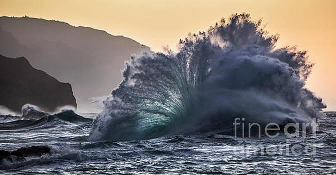 Napali Coast Kauai Wave Explosion Hawaii by Dustin K Ryan