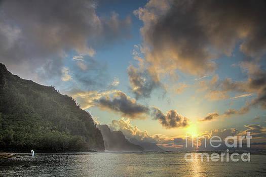 Napali Coast Sunset Kauai by Dustin K Ryan