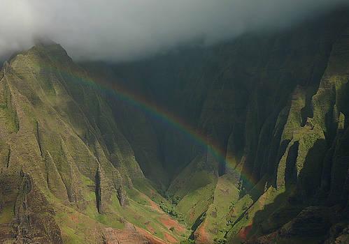 Napali Valley Rainbow - Kauai by Stephen  Vecchiotti