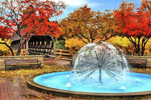 Naperville Dandelion Fountain by Christopher Arndt