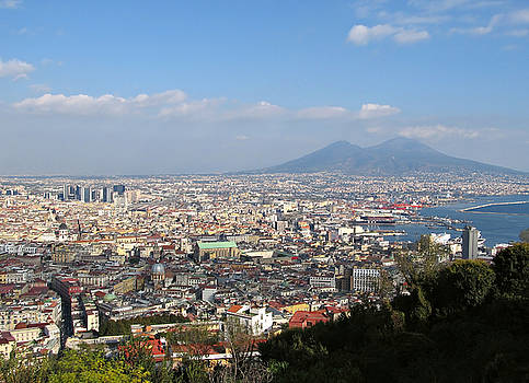 Naples Panoramic View by Kiril Stanchev