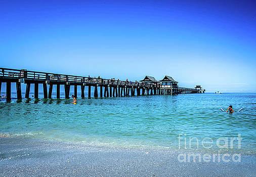 Naples Pier - 5630a by Debra Kewley