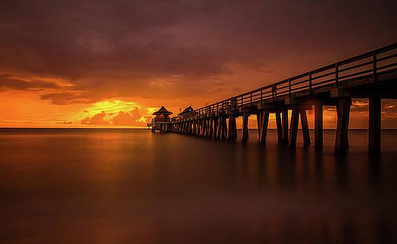 Naples Pier Sunset by Steve Augulis