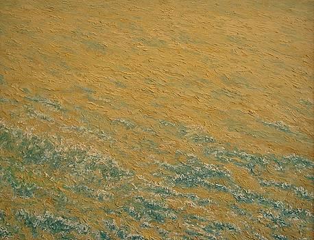 Naples Yellow Seascape - Half Moon Bay CA. by Kevin Davidson