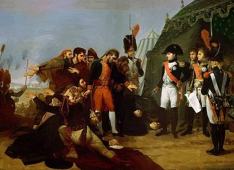 Napoleon Accepts The Surrender Of Madrid 4 December 1808 1810 by Gros AntoineJean