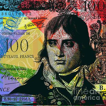 Napoleon Bonaparte Pop Art 100 francs banknote by Jean luc Comperat
