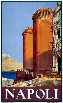Napoli Italy, travel poster for ENIT, ca. 1920 by Vintage Printery
