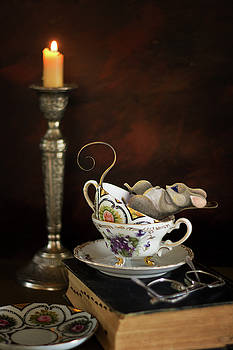 Napping Mouse in a Tea cup by Eleanor Caputo
