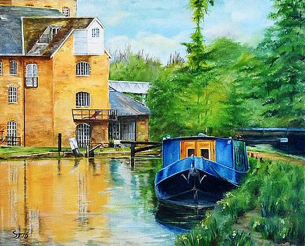 Narrow Boat at Coxe's Lock by Steve James
