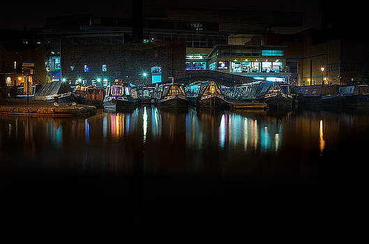 Narrow Boats by Night by Christopher Francis