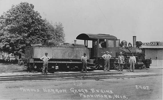 Chicago and North Western Historical Society - Narrow Gauge Engine in Wisconsin