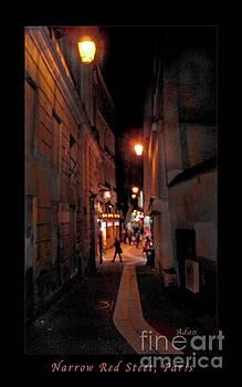 Felipe Adan Lerma - Narrow Red Street, Paris