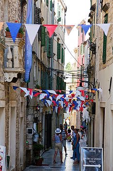 Narrow Sibenik Street by Sally Weigand